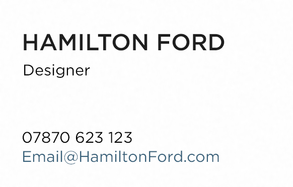 Hamilton Ford business card image